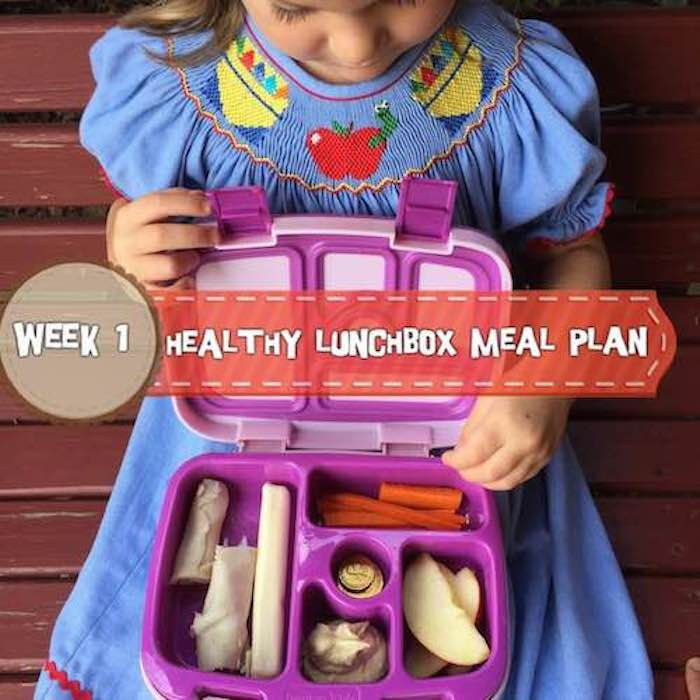 Healthy Lunchbox Meal Plan: Week 1 *Check back every week for a new meal plan. Tune into Instagram daily for the lunchbox of the day! | www.holleygrainger.com/blog
