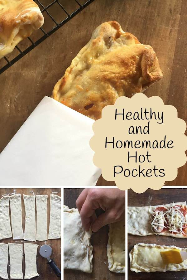 Healthy and Homemade Hot Pockets--Use refrigerated pizza dough and fresh ingredients to customize these freezer-friendly, healthy, and homemade hot pockets.
