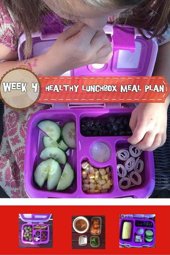 Healthy Lunchbox Meal Plan: Week 4 -- A week of delicious and easy lunchbox meals for your little ones.