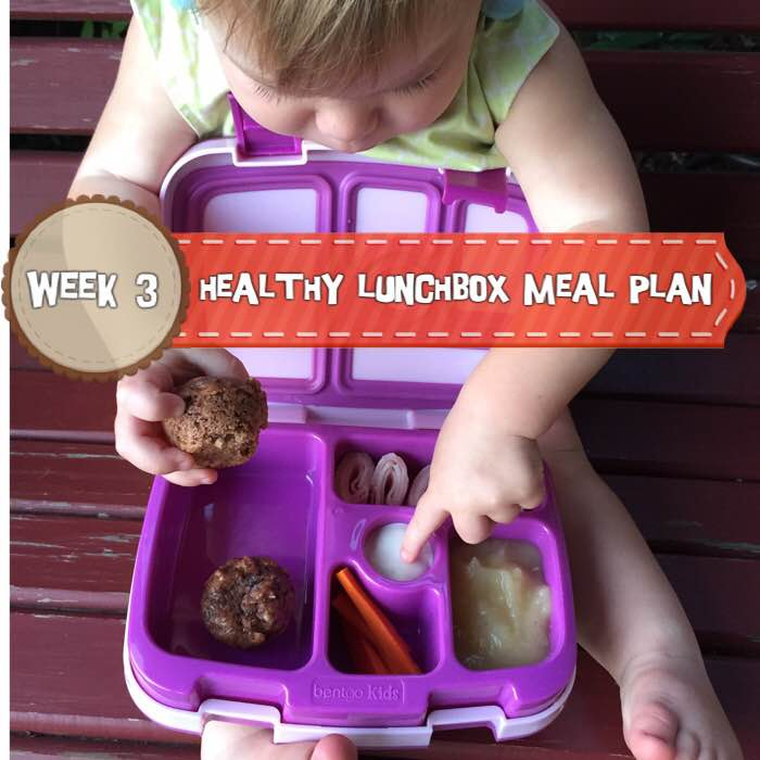 Healthy Lunchbox Meal Plan: Week 3 -- A week of delicious and easy lunchbox meals for your little ones.