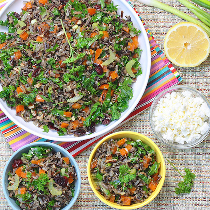 Wild Rice Summer Salad via The Meal Makeover Moms